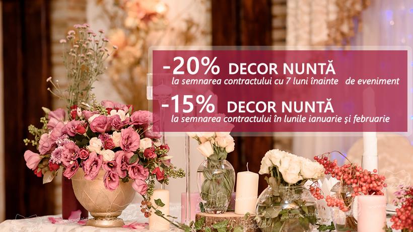 Reducere de până la 20% la toate decorațiunile de nuntă